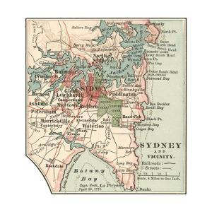 Map of Sydney (C. 1900), Maps by Encyclopaedia Britannica