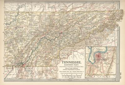 Map of Tennessee, Eastern Part. United States by Encyclopaedia Britannica
