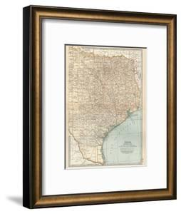 Map of Texas, Eastern Part. United States by Encyclopaedia Britannica