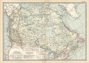 Map of the Dominion of Canada and Newfoundland by Encyclopaedia Britannica