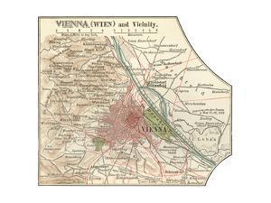 Map of Vienna (C. 1900), Maps by Encyclopaedia Britannica