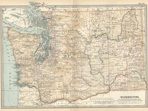 Map of Washington State. United States by Encyclopaedia Britannica