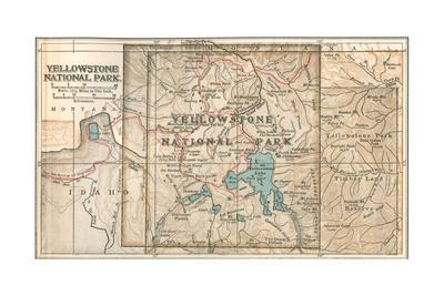Map of Yellowstone National Park (C. 1900), Maps