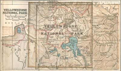 Map of Yellowstone National Park (C. 1900), Maps by Encyclopaedia Britannica