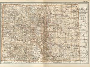 Plate 109. Map of Colorado. United States by Encyclopaedia Britannica