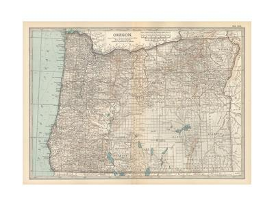 Plate 112. Map of Oregon. United States