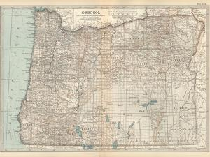 Plate 112. Map of Oregon. United States by Encyclopaedia Britannica