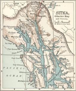Plate 116. Inset Map of Sitka by Encyclopaedia Britannica