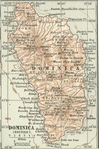 Plate 118. Inset Map of Dominica (British) by Encyclopaedia Britannica