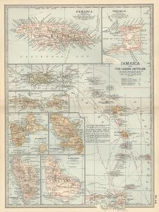 Plate 118. Map of Jamaica and the Lesser Antilles by Encyclopaedia Britannica