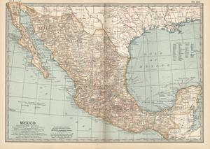 Plate 119. Map of Mexico, 1902. Atlas, Maps by Encyclopaedia Britannica