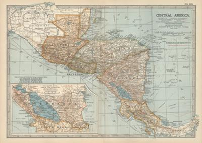Plate 120. Map of Central America. Guatemala by Encyclopaedia Britannica
