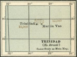 Plate 121. Inset Map of Trinidad and Martin Vas by Encyclopaedia Britannica