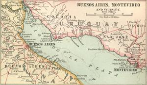 Plate 124. Inset Map of Buenos Aires by Encyclopaedia Britannica
