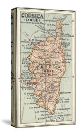Plate 18. Inset Map of Corsica (Corse). Europe