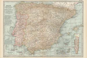 Plate 20. Map of Spain by Encyclopaedia Britannica