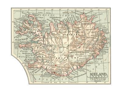 Plate 25. Inset Mape of Iceland by Encyclopaedia Britannica
