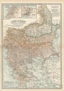 Plate 35. Map of Turkey in Europe by Encyclopaedia Britannica