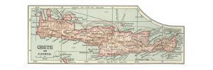 Plate 36. Inset Map of Crete (Candia). Greece by Encyclopaedia Britannica