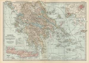 Plate 36. Map of Greece by Encyclopaedia Britannica