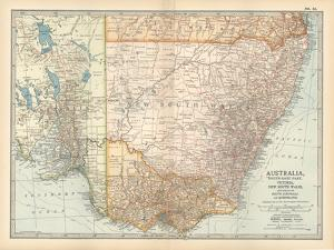 Plate 51. Map of Australia. South-East Part. Victoria by Encyclopaedia Britannica