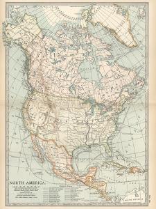 Plate 58. Map of North America. Alaska by Encyclopaedia Britannica