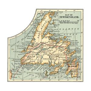 Plate 63. Inset Map of Newfoundland. Canada by Encyclopaedia Britannica