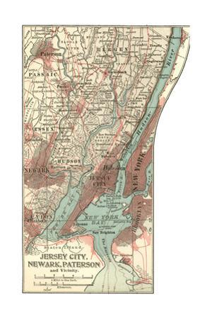 Plate 72. Inset Map of Jersey City by Encyclopaedia Britannica