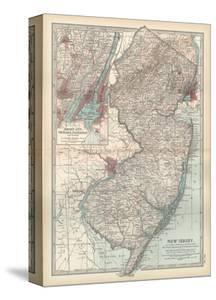 Plate 72. Map of New Jersey. United States. Inset Map of Jersey City by Encyclopaedia Britannica