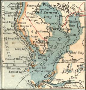 Plate 81. Inset Map of Tampa by Encyclopaedia Britannica