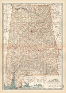 Plate 84. Map of Alabama. United States by Encyclopaedia Britannica