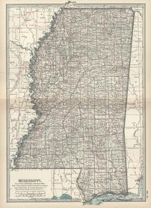 Plate 85. Map of Mississippi. United States by Encyclopaedia Britannica