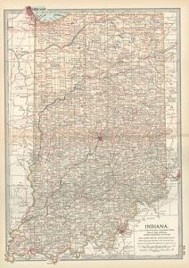 Plate 92. Map of Indiana. United States by Encyclopaedia Britannica