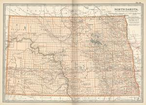 Plate 99. Map of North Dakota. United States by Encyclopaedia Britannica