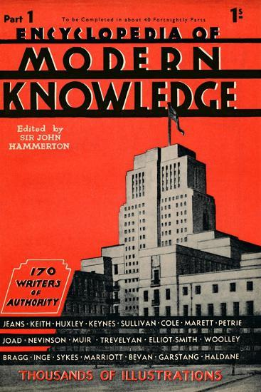 'Encyclopedia of Modern Knowledge Part 1 advertisement', 1935-Unknown-Giclee Print