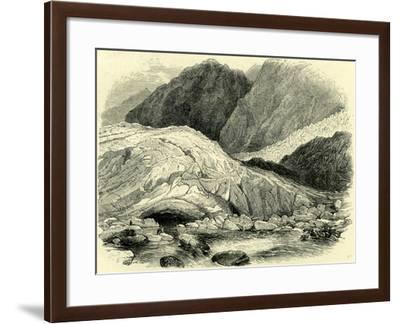 End of Glacier Switzerland--Framed Giclee Print