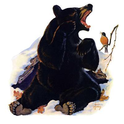 """End of Hibernation,""April 17, 1937-Jack Murray-Giclee Print"