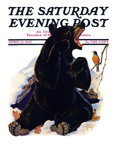 """""""End of Hibernation,"""" Saturday Evening Post Cover, April 17, 1937-Jack Murray-Giclee Print"""