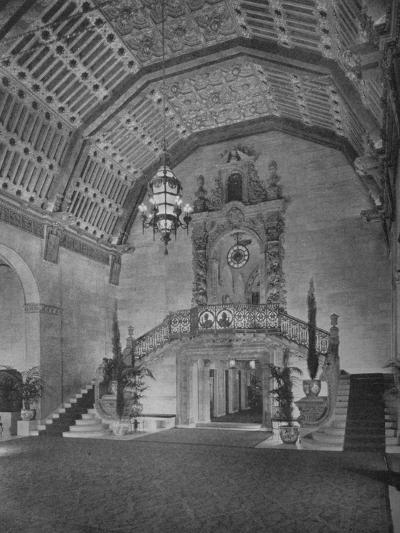 End of lobby, Los Angeles Biltmore Hotel, Los Angeles, California, 1923--Photographic Print