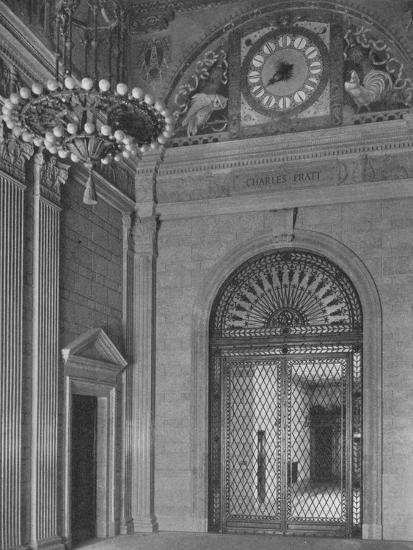 End of main entrance hall, Standard Oil Building, New York City, 1924-Unknown-Photographic Print