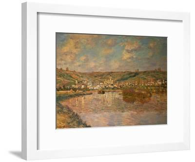 End of the Afternoon, Vetheuil, 1880-Claude Monet-Framed Giclee Print