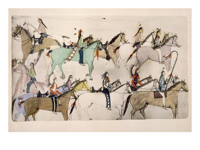End of the Battle- Amos Bad Heart Buffalo-Giclee Print