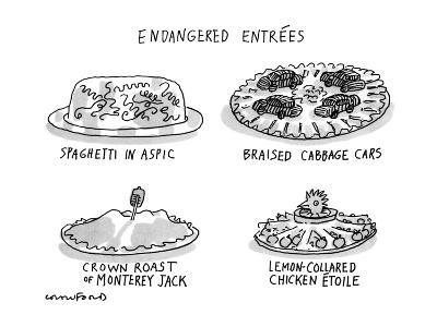 Endangered Entrees - New Yorker Cartoon-Michael Crawford-Premium Giclee Print