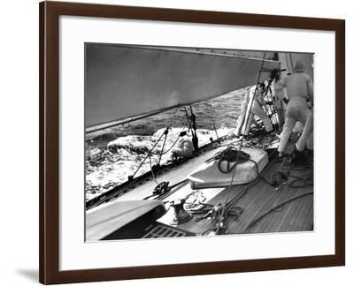 Endeavour Crew at the Mast--Framed Photographic Print