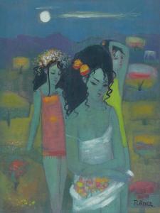 Gathering Fruit by Endre Roder