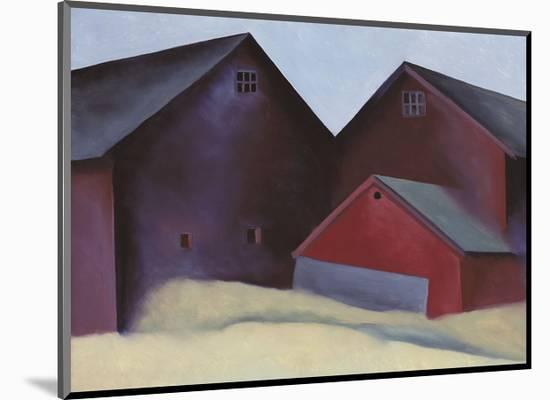 Ends of Barns-Georgia O'Keeffe-Mounted Art Print