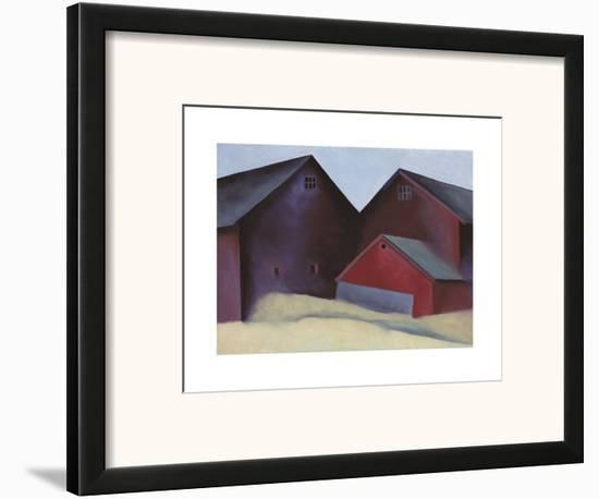 Ends of Barns-Georgia O'Keeffe-Framed Art Print