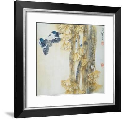 Energetic Rhythm of Autumn-Yuan Mu-Framed Giclee Print