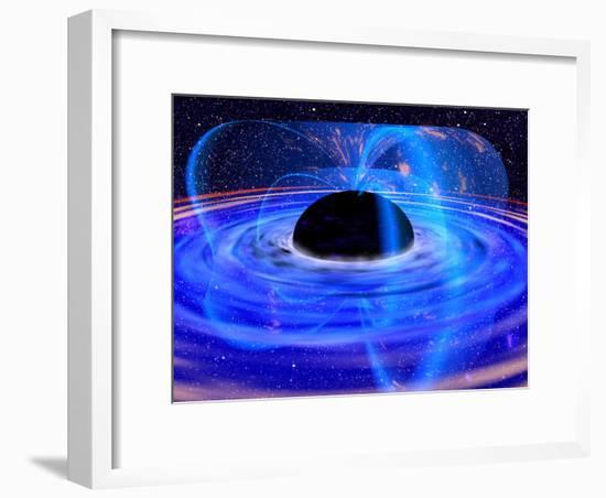 Energy-releasing Black Hole--Framed Photographic Print