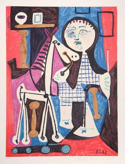 Enfant avec Cheval a Toulettes, 2-C-Pablo Picasso-Premium Edition
